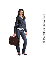 Young stylish business woman with
