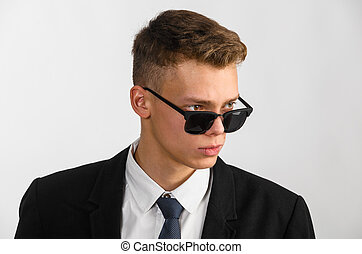 young stylish businessman