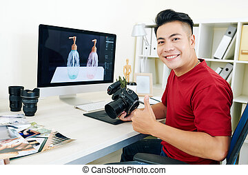 Young successful photographer
