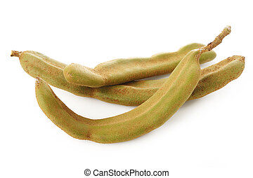 young tamarind on white background
