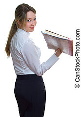 young teacher with book