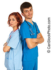 Young team of doctors