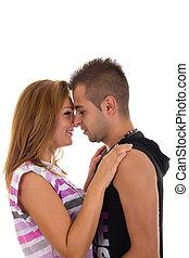 young teen couple