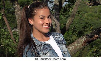 Young Teen Girl At Park