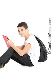 Young teenage boy scholar