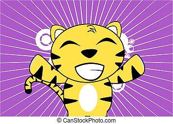 young tiger plush cartoon frame3