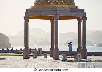 Young tourist in Oman