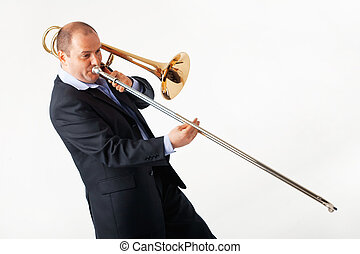 Young Trombone Player