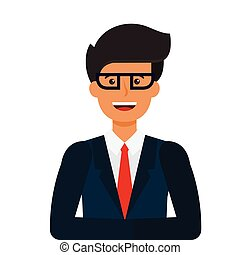 young tv newscaster cartoon flat vector illustration concept on isolated white background