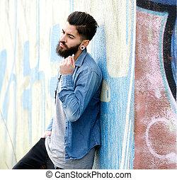 Young urban man