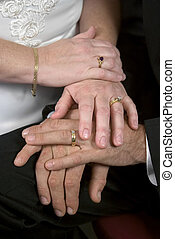 Young Wedding Hands - A closeup of the hands of a newly...