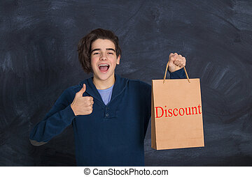 young with shopping bag on sale