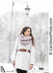 Young woman at winter