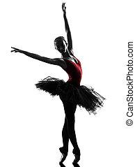 young woman ballerina ballet dancer dancing silhouette