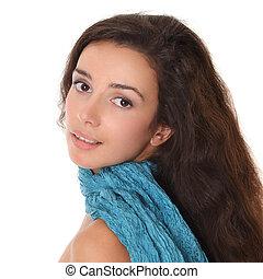 Young woman - beautiful face close-up