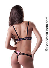 Young woman body in sexy lingerie