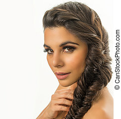 young woman braided hair