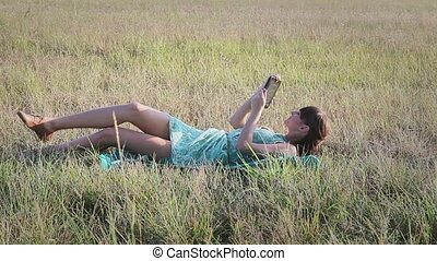 Young woman browsing in Internet