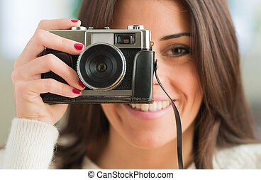 Young Woman Capturing Photo