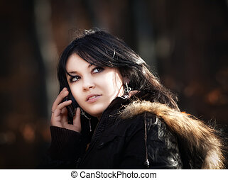 young woman cellphone