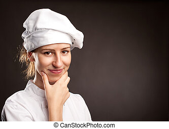 young woman chef