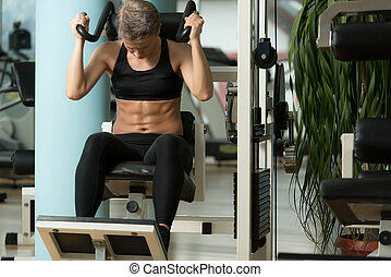 Young Woman Doing Abdominal Excerise