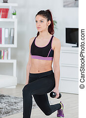 young woman doing an exercise