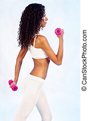 fitness exercises with weights