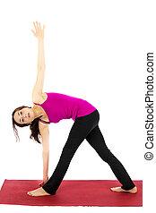 Revolved Triangle Pose in Yoga