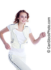 Young woman doing sport
