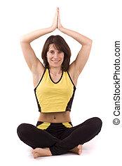 woman doing yoga exercise