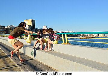 Young woman enjoying a summer eveni