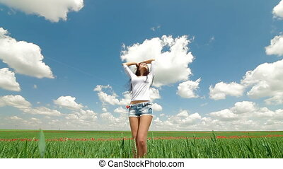 Young Woman Enjoying Summer Day