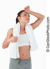 Young woman exhausted after workout