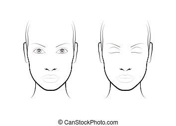 Face Of Beautiful Girl Fashion Icon Makeup Artist Logo Template