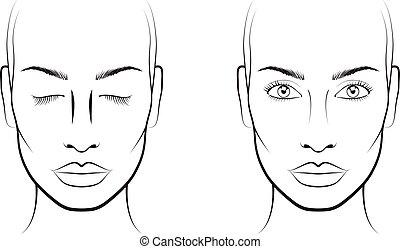Face chart makeup artis blank face charts face chart makeup artist blank template maxwellsz