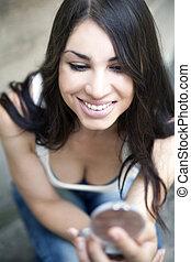 young woman, fashion, make-up