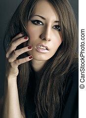 Young woman fashion portrait
