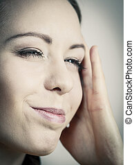 Young woman feeling headache