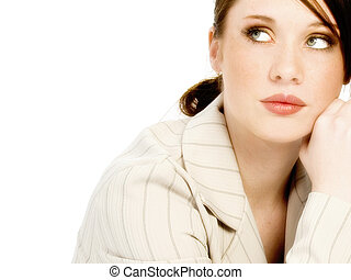 Young Woman Glamour - Beautiful young business woman in...