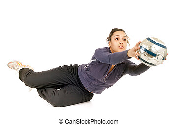 woman goalkeeper
