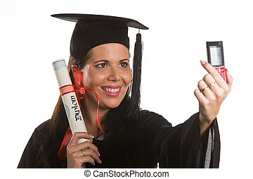 Young woman graduated with a Diploma