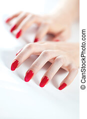 Young woman hands