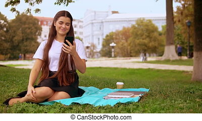 young woman has online video chat