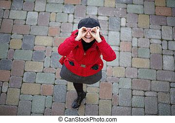 Young woman having fun
