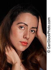 young woman hispanic face