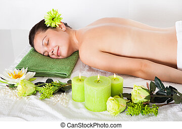 Young Woman In A Spa