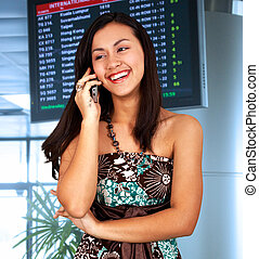 Young Woman In An Airport
