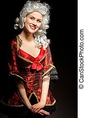 Young woman in baroque costume