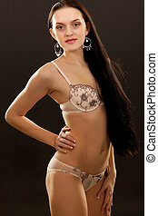 young woman in beautiful lingerie